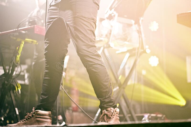 Person In Black Pants On Stage Free Public Domain Cc0 Image