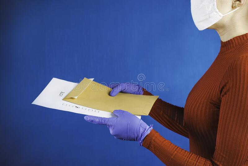 Correspondence voting during an epidemic stock image