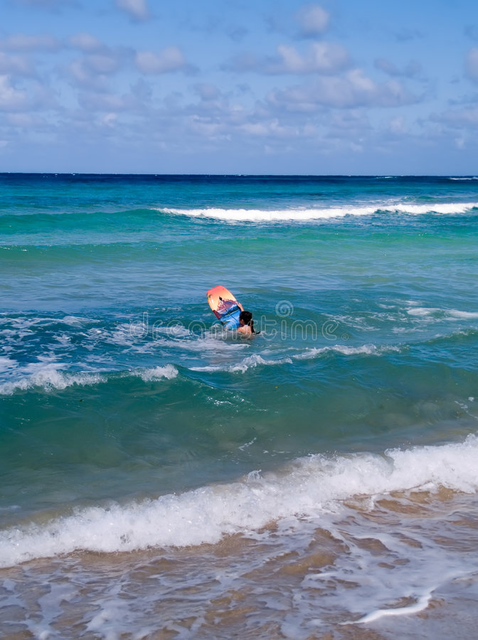 Download Person With Body Board In Sea Stock Image - Image: 1717081