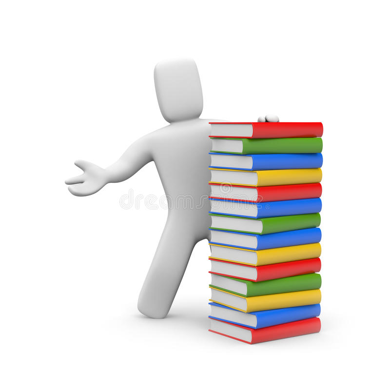 Person with book stock illustration