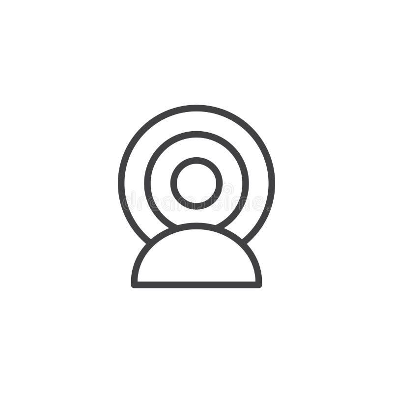 Person Broadcasting-overzichtspictogram royalty-vrije illustratie