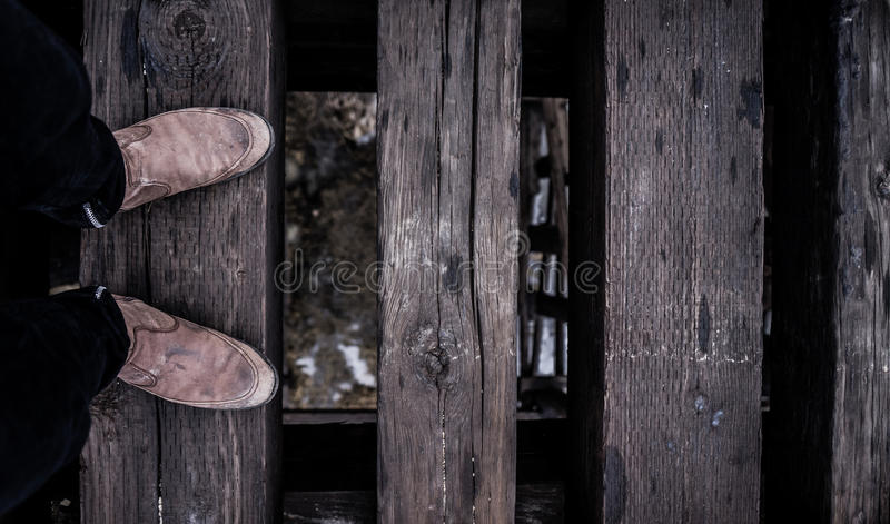 Person In Brown Leather Shoes Near Stepped On Wooden Floor Free Public Domain Cc0 Image