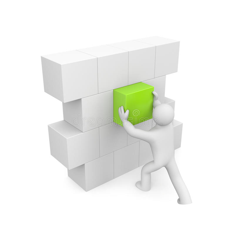 Download Person Build Wall. Image Contain Clipping Path Stock Illustration - Illustration: 18175516