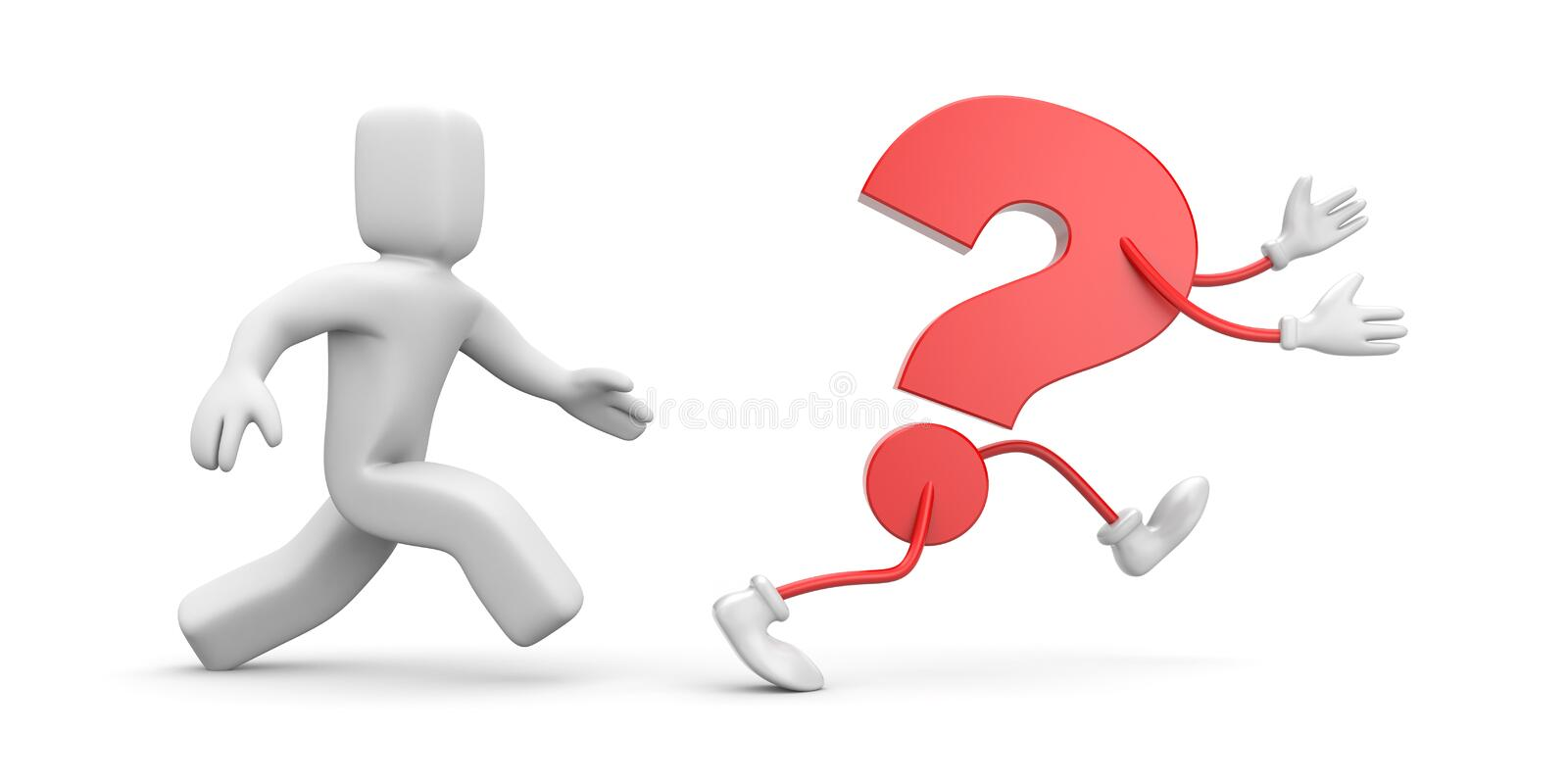 The Person Catches Up A Question Royalty Free Stock Images
