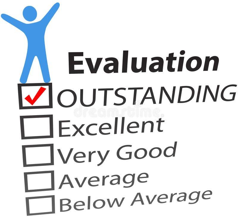 Person celebrate excellent HR evaluation vector illustration