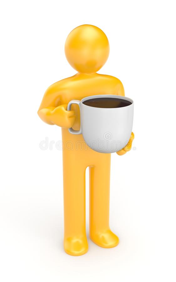 Person with coffe cup