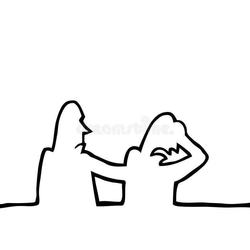 Person comforting another sad person royalty free stock photos