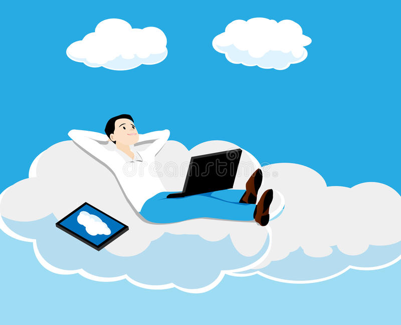 Download The person on a cloud stock vector. Illustration of internet - 30191284