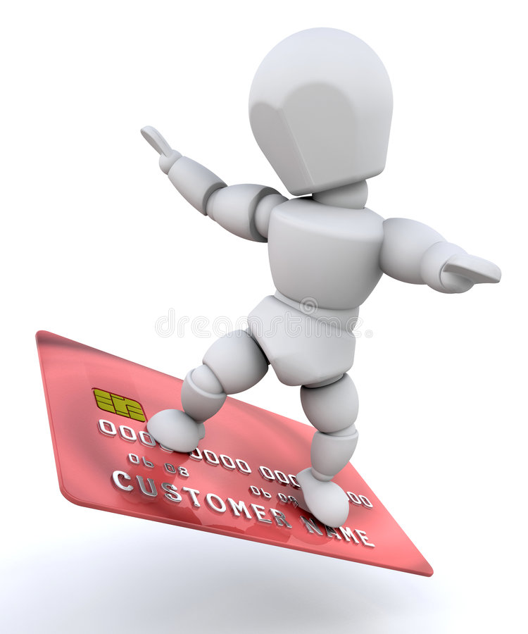 Download Person with credit card stock illustration. Illustration of female - 8152379