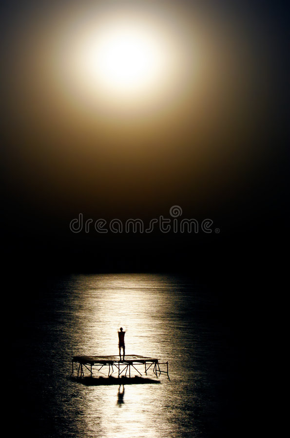 Free Person Dancing In Moon Light Stock Photography - 6114362
