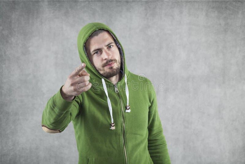 Person, die auf Sie zeigt lizenzfreie stockbilder
