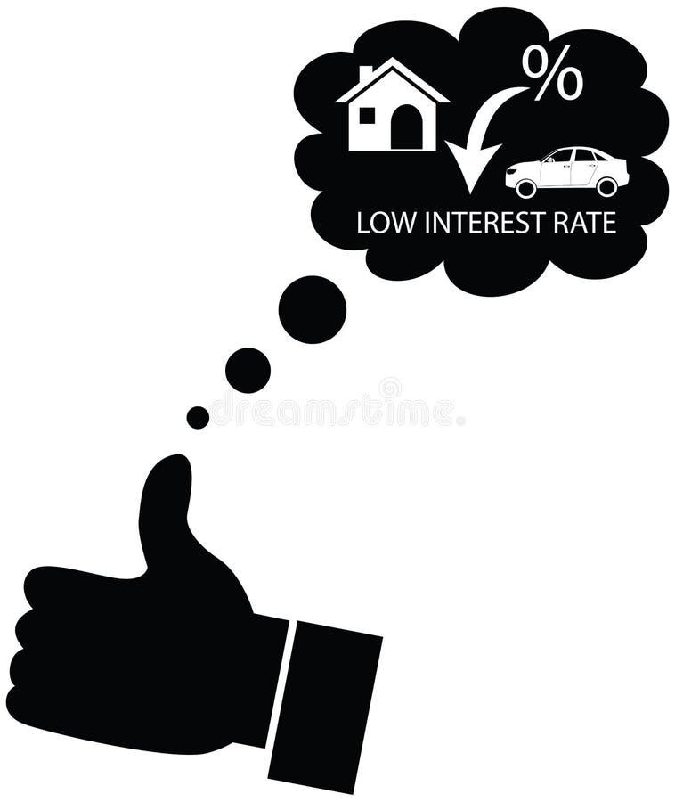 Person, die für Abnahme in den Zinssätzen träumt oder mag lizenzfreies stockbild