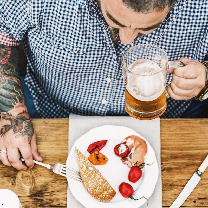 Person Dining Gourmet Meal Concept fotos de archivo libres de regalías