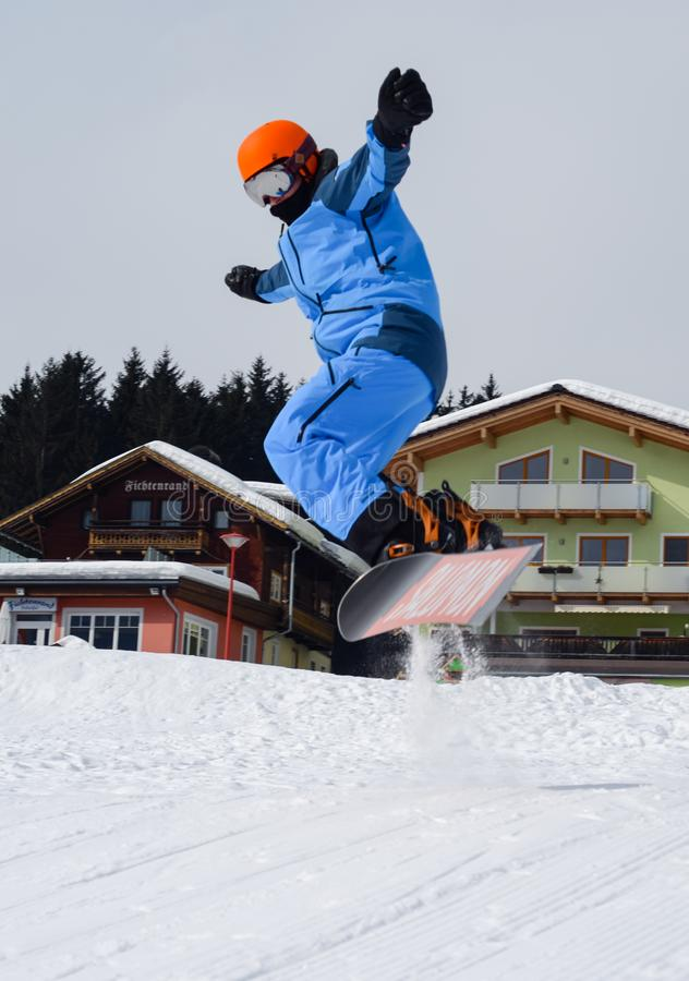 Person Doing Snowboarding royalty free stock image