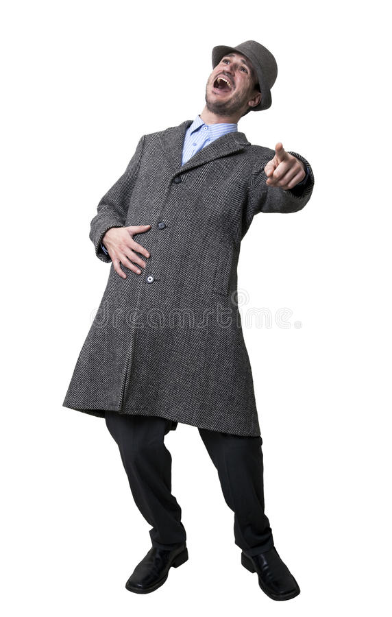 Laughing Mobster Stock Photography