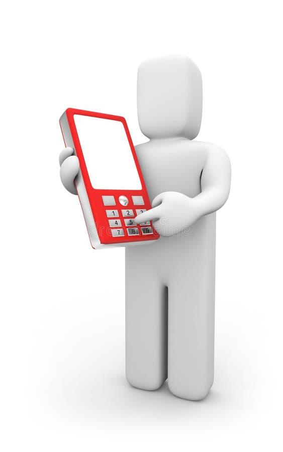 Person erhält Telefonnummer vektor abbildung