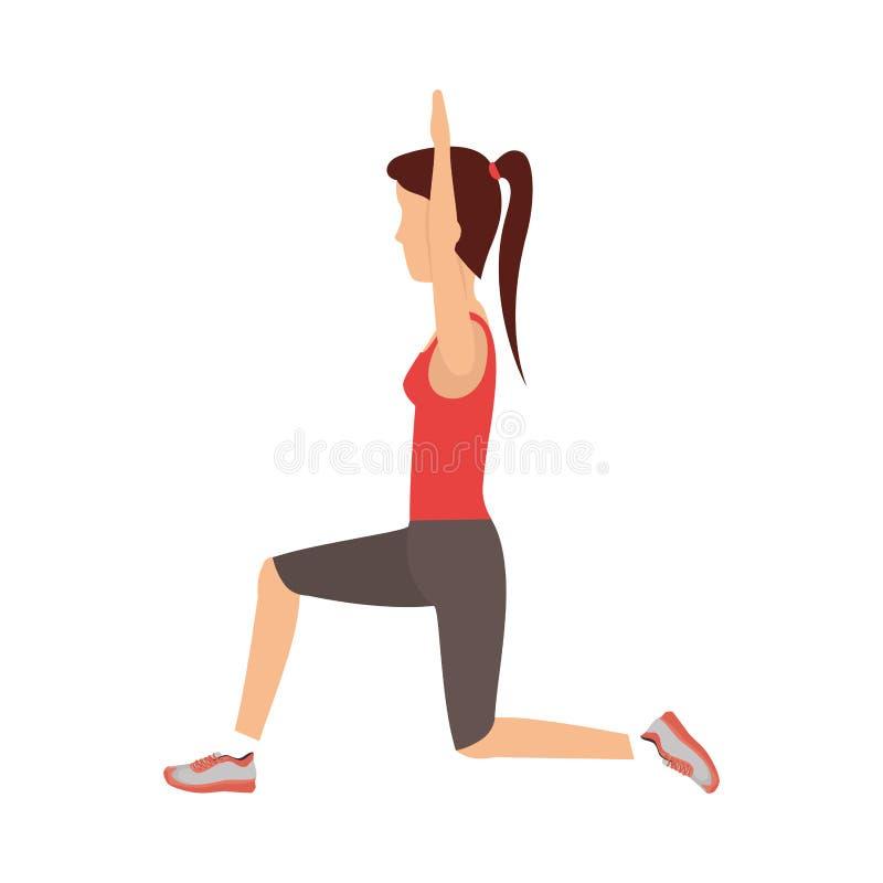 Person exercising in gym. Vector illustration design vector illustration