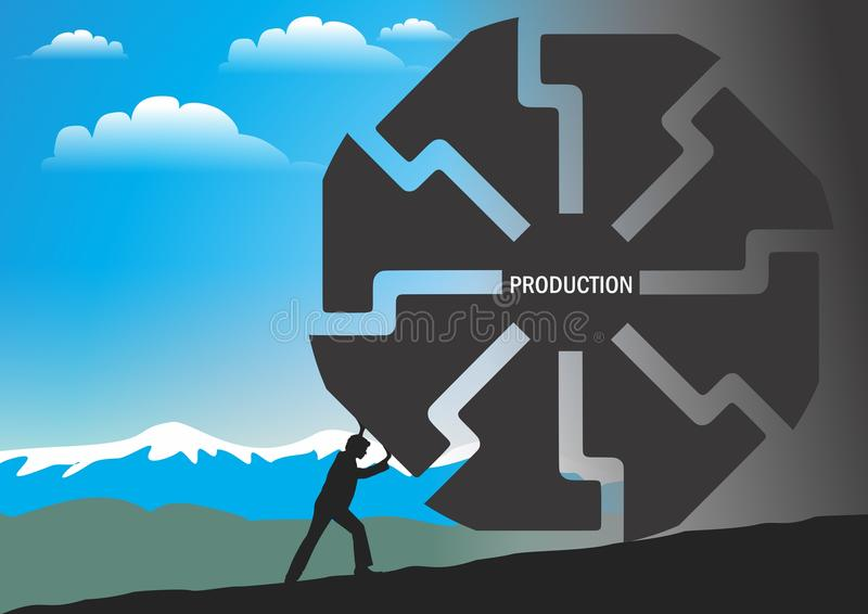 Production vector illustration