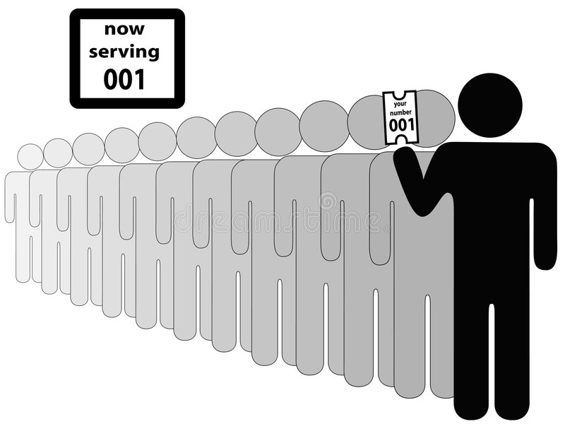 Person First in Line royalty free illustration