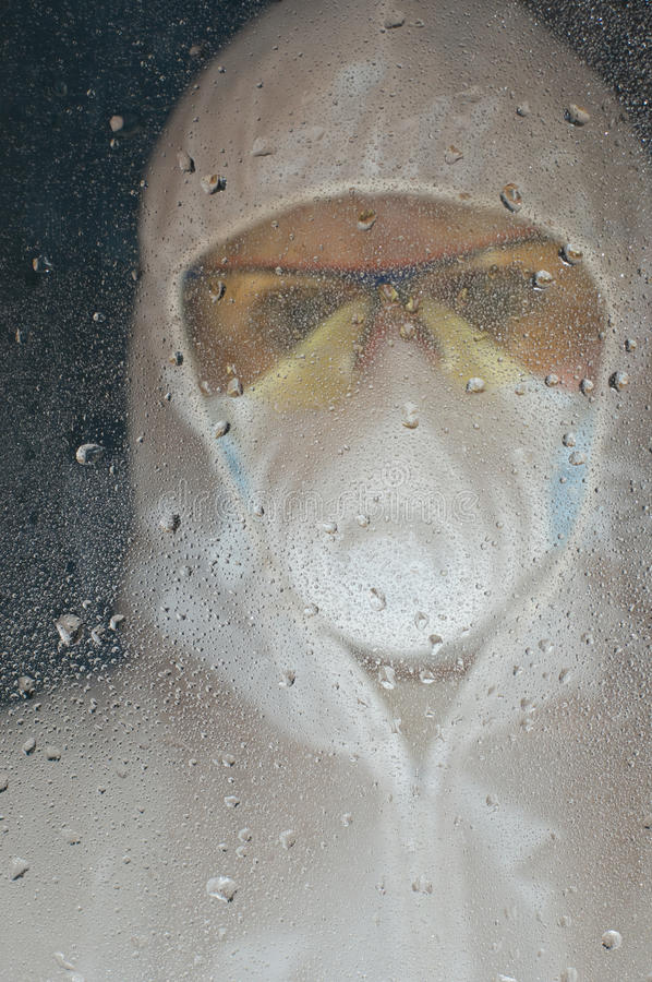 Download Person in gas mask stock image. Image of protect, industry - 12135655