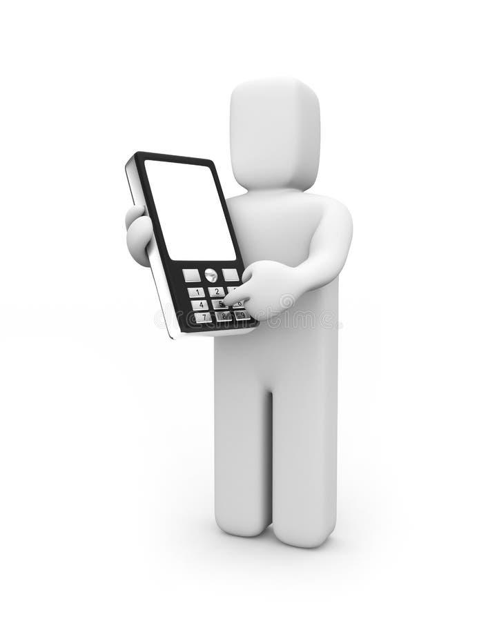 Download Person gets phone number stock illustration. Illustration of digit - 9722892