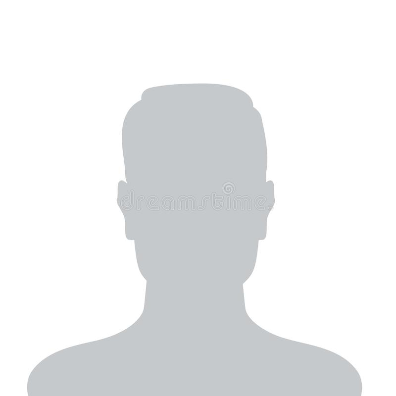 Person gray photo placeholder man silhouette. sign. Person gray photo placeholder man silhouette on white background stock illustration