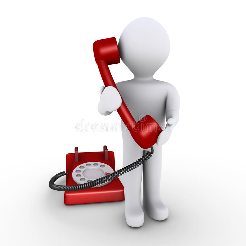 Person hält Telefonhörer an vektor abbildung