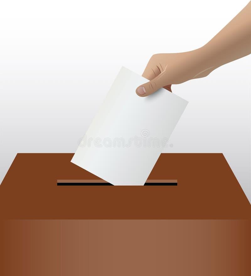 Person Hand Voting ilustração do vetor