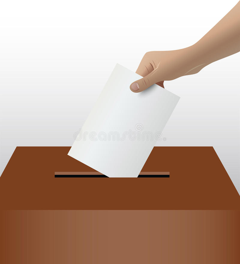 Person Hand Voting vector illustration