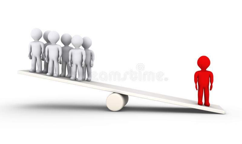 Person Is Heavier Than Many Others Stock Photos