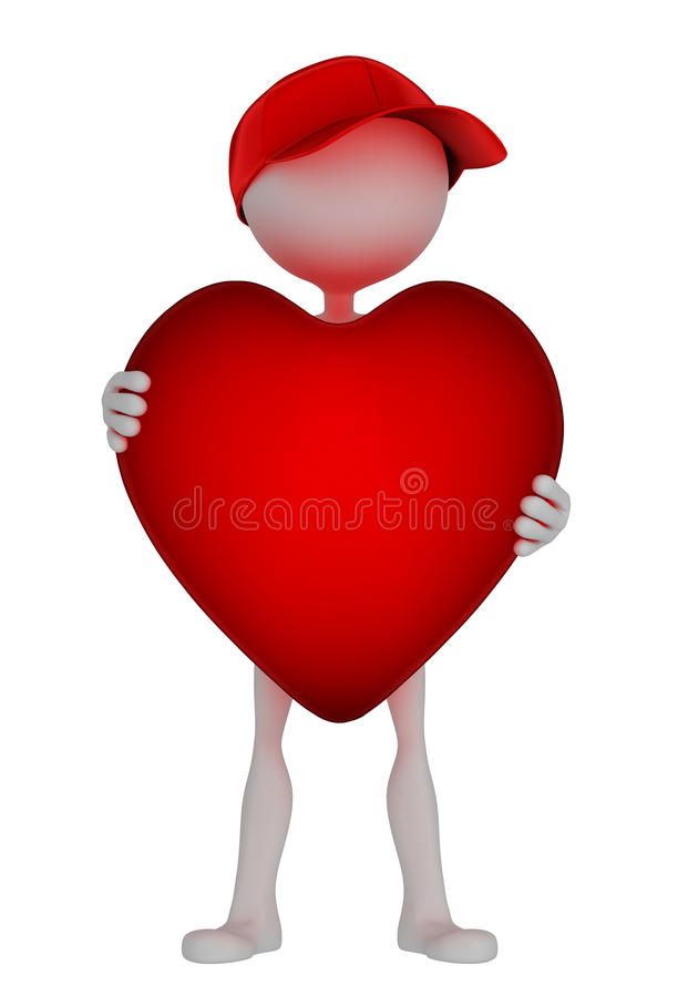 Download Person Holding Big Red Hart Stock Illustration - Illustration of concept, happiness: 21229129