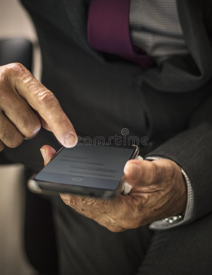 Person Holding Black Smartphone royalty free stock images
