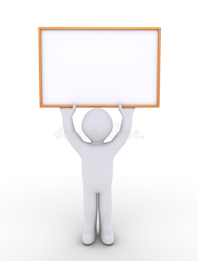 Download Person Is Holding A Blank Sign High Stock Illustration - Image: 34046781