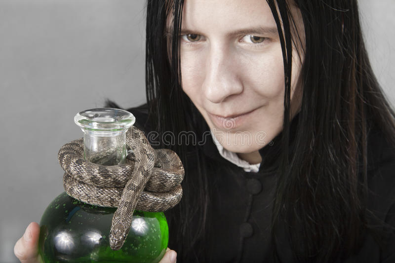 Download The Person Holding Flask Of Poison Stock Photo - Image: 16079316