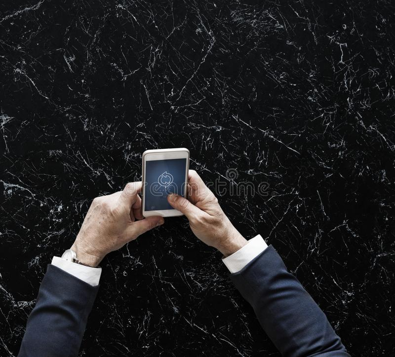 Person Holding White Android Smartphone royalty free stock photo