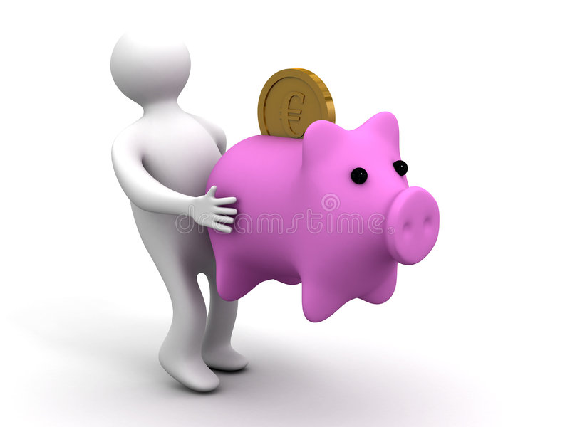 Download Person Holds A Coin Box. Stock Photos - Image: 7004223