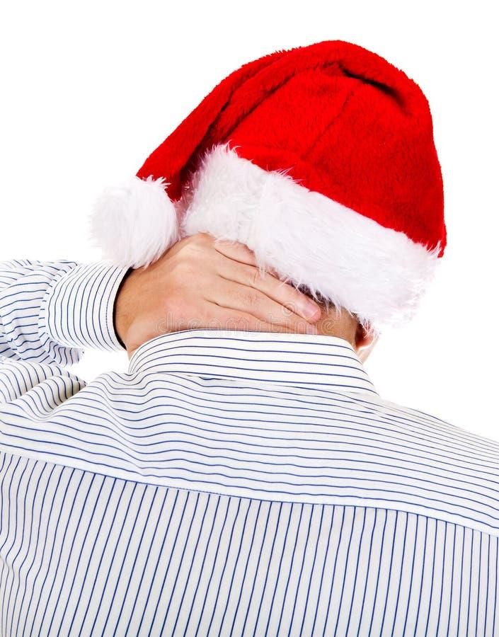 Person i Santa Hat arkivbild