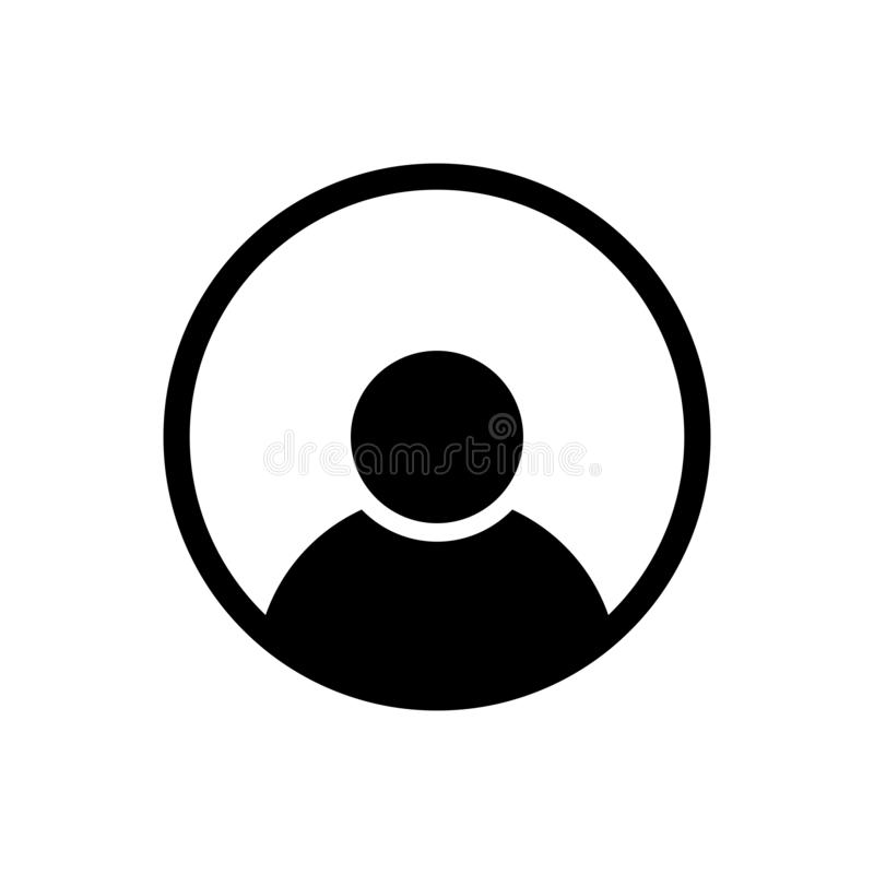 Person icon in line style. Man symbol royalty free illustration