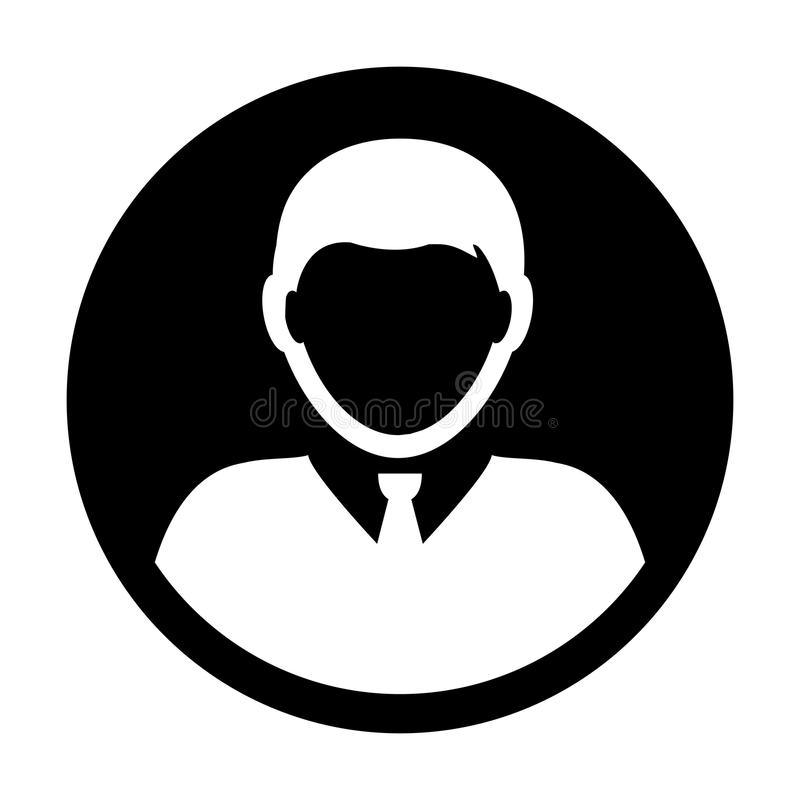 Person icon vector male user profile avatar royalty free illustration