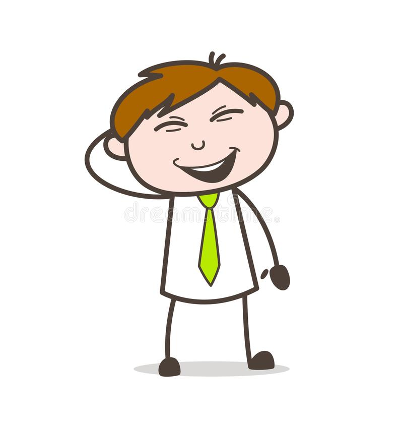Person Laughing Vector Illustration sobreexcitado ilustración del vector