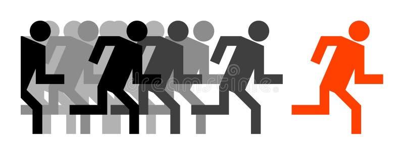 Person leader. A symbol person leader illustration royalty free illustration