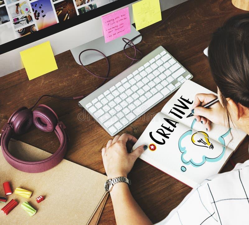 Person Light Bulb Graphic Concept créatif photographie stock