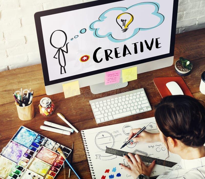 Person Light Bulb Graphic Concept créatif photo stock