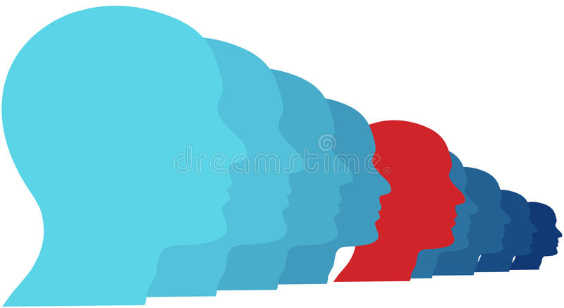 Download Person Looks Ahead At New Future Of Group Stock Vector - Image: 21574456