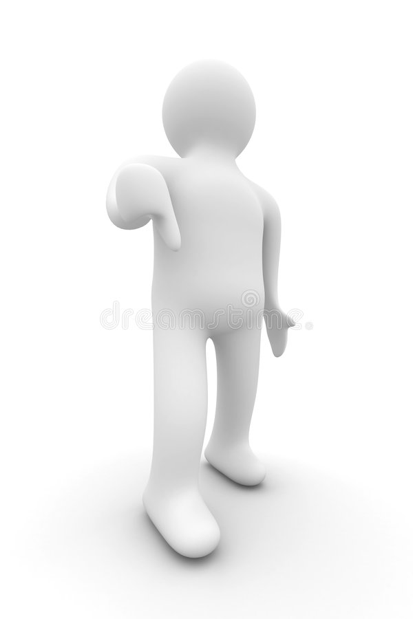 Download Person A Lowering Finger Downwards. Isolated Stock Illustration - Image: 7252614