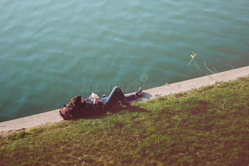 Person Lying On Concrete During Daytime Free Public Domain Cc0 Image