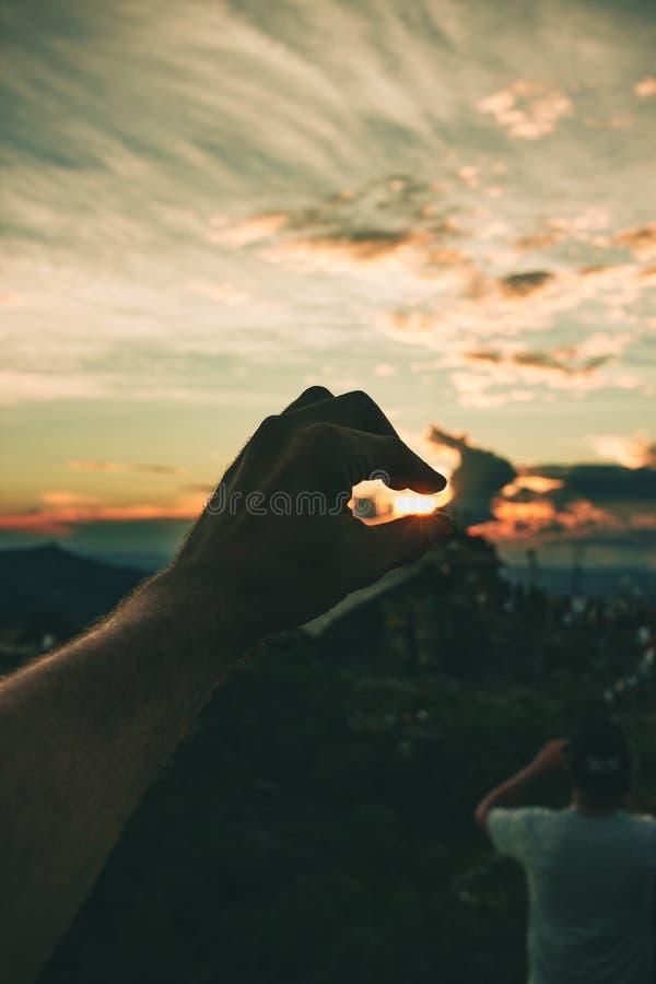 Person' mão esquerda de s fotografia de stock royalty free