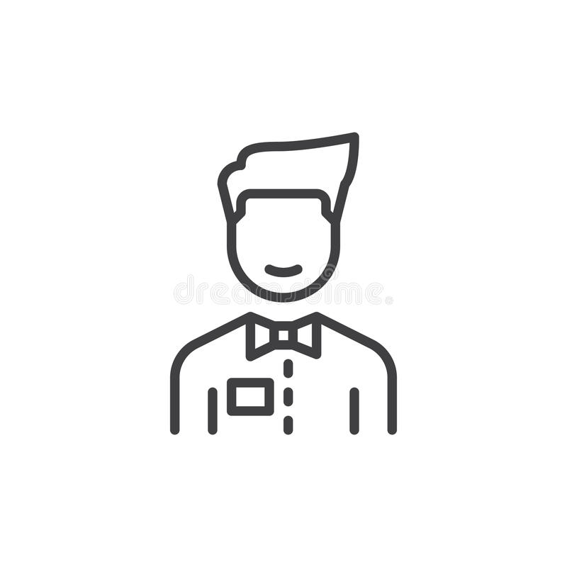 Person med flugalinjen symbol stock illustrationer