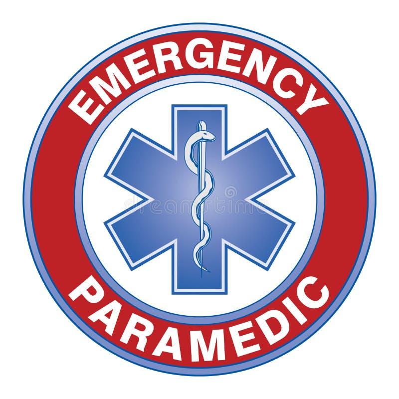 Person med paramedicinsk utbildning Medical Design stock illustrationer