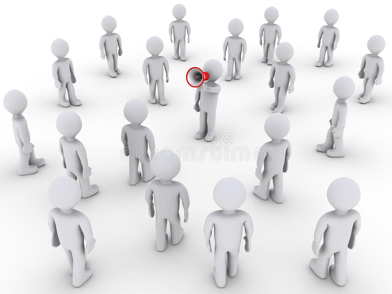 Download Person With Megaphone Calling Others To Join Stock Image - Image: 24792501
